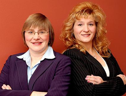 RN, MBA Patricia Raya and Corine Mogenis