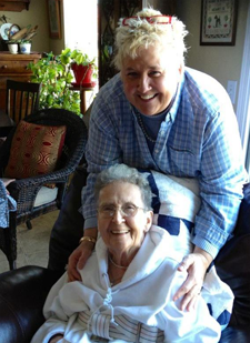 Melissa Vaughan and Barbara Taylor Vaughan