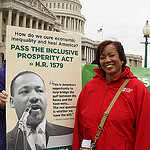 RN Sandra Falwell at D.C. rally