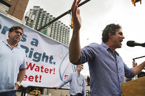 Actor Mark Ruffalo calls the Detroit water shutoffs a travesty.
