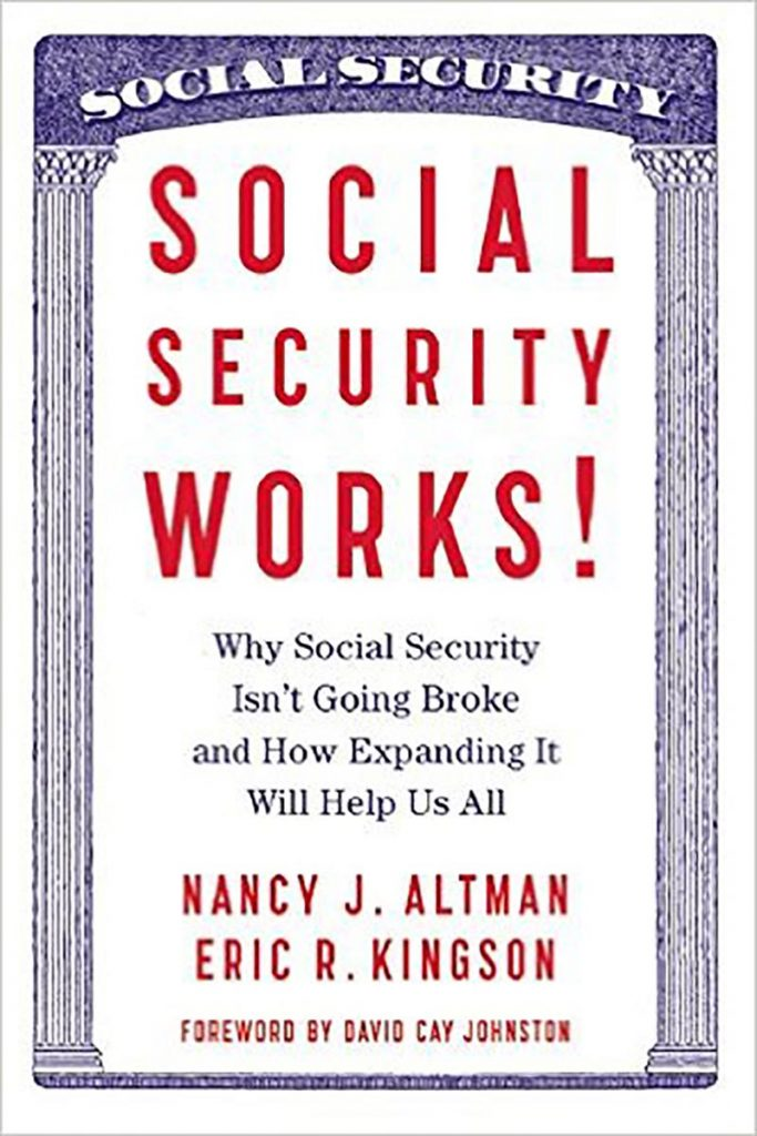 graphic that looks like a social security card that reads social security works