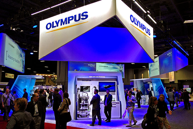 olympus booth at convention