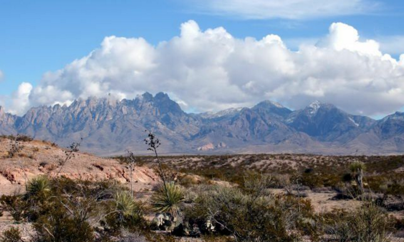 image of desert and mountains