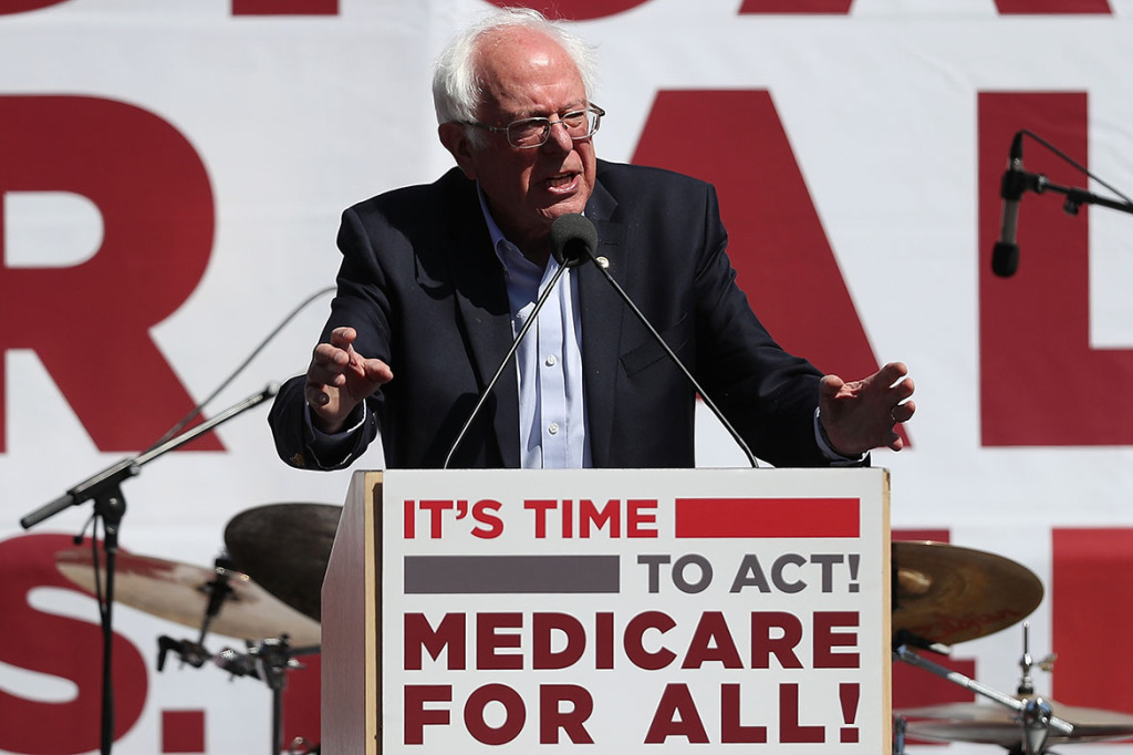 Sen. Bernie Sanders (I-Vt.) speaks during a health care rally on September 22, 2017 in San Francisco, California. (Justin Sullivan/Getty Images)