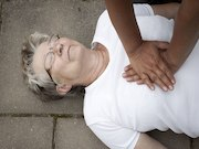 image of someone administrating CPR