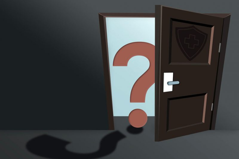 image of door with question mark