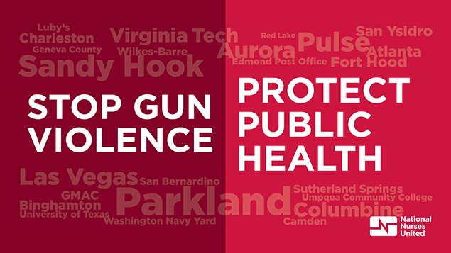 National Nurses United Stop Gun Violence